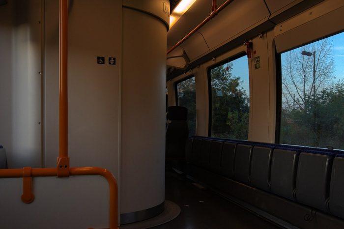 Blick aus einem fahrendem Zug
